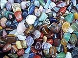 400g di africani prodotte qualità misto tumblestones----- foto di vere e proprie pietre. No importazioni cinesi.----- il « 76mix » è una splendida multicolore mix di un' eventuale 76diversi di alta qualità gemme. Ci sono una vasta gamm...