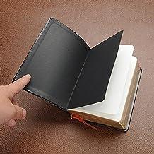 Tiptiper Diario de la escritura del cuero del vintage Cuaderno Perfecto para escribir Regalos Pluma Fuentes Usuarios Usuarios