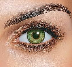 Skhoza Monthly Coloured Contact Lens-Zero power (green)
