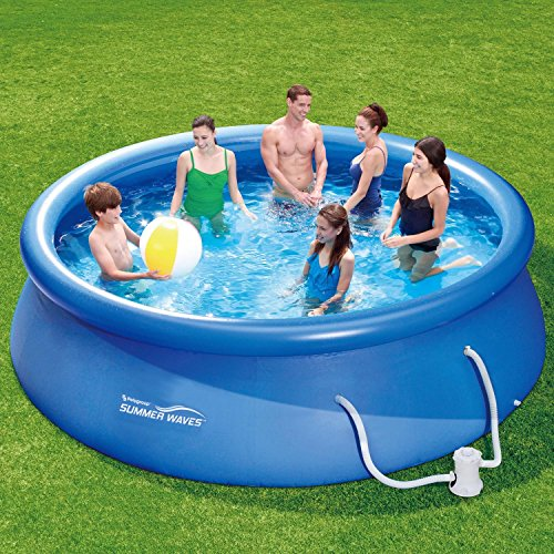 Summer Waves Fast Set Quick Up Pool 366x91cm Swimming Pool Familien Schwimmbad mit Filterpumpe -