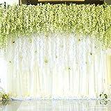 Houda Lot de 12 Guirlandes de fleurs en soie artificielle Guirlande de Vigne Ratta à suspendre pour Fête Maison Mariage Décor, 101,6cm,