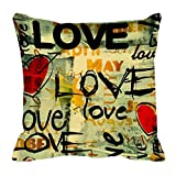 meSleep Digitally Printed Valentine Cushion Cover - Beige (47-valentine)