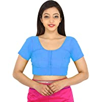 GULBIN'S Women's Cotton Solid Short Sleeve Blouse With Face Mask
