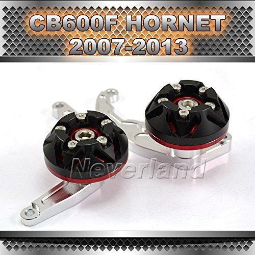 asmaza (TM) CNC motore, scorrevole schermo per Honda CB600F Hornet 2007-2013080910Rosso Moto Sliders wholcsale C20