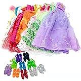 """Lance Home 5 juegos Falda del Vestido de Noche + 10 Pares de Zapatos para Muñecas de 11.5"""" Barbie, Estilo Aleatorio"""