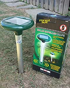 Anti talpe a pannello solare 650 mq scaccia talpe e for Talpe in giardino