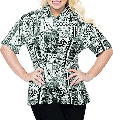Blusas-Camisa-Hawaiana-Ropa-de-Playa-Para-Mujer-Casuales-Botn-de-La-Manga-Corta-de-Arriba-Hacia-Abajo-Encubrimiento-del-Tanque