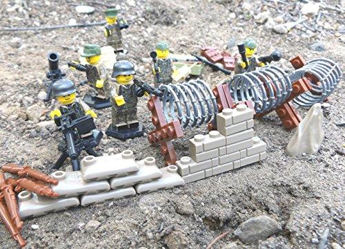 Preisvergleich Produktbild 6 Stück Custom Minifiguren Wehrmacht Elite Soldaten, Landser und Offizier