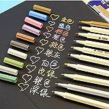 Frimateland Packung mit 10 Stück bunte DIY Dekorativ Gelschreiber Lackstift metallischen Stift Marker Büro Schule Vorräte Studenten Kinder Geschenk