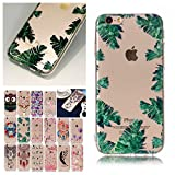 V-Ted Coque Apple iPhone 7 Plus 8 Plus Feuilles Tropicales Silicone Ultra Fine Mince...