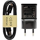 Chargeur Rapide Samsung EP-TA20EBE - Couleur : Noir - avec câble de Charge Micro USB - Câble de Charge Rapide pour…