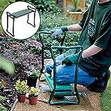 Bluelover Klappbarer Edelstahl Garten Kniebank Hocker EVA Cushion Sitz Gartenarbeit tragbares Werkzeug