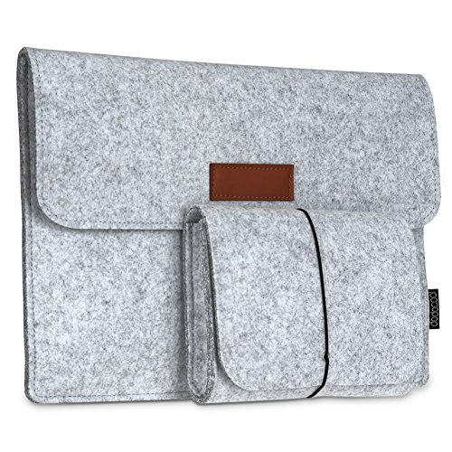 "dodocool 12 pulgadas Cubierta de fieltro Funda para Macbook con Bolsa de ratón para 12"" Apple MacBook / 11"" MacBook Air /12"" Surface Pro 3 color gris"