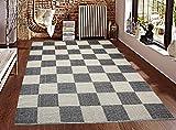 #6: Saral Home Soft Cotton Handloom Made Multi Purpose Floor Rugs -140x200 cm