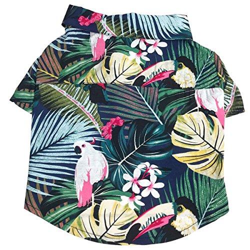 POPETPOP Stilvolle Hundeklage Pet Puppy Hawaii Stil Sommer Kleidung Weste Shirts -