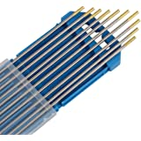 Forever Speed 10 x volframelektrod nål WL-15 Ø2,4 x 175 mm TIG svetsning gyllene