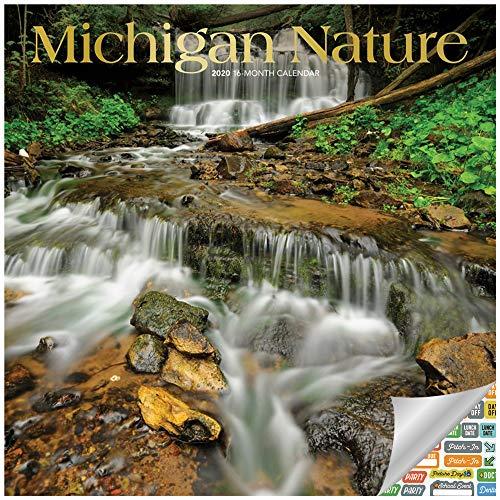 Michigan Wild and Scenic Kalender 2020 Set - Deluxe 2020 Michigan Wandkalender mit über 100 Kalenderaufklebern (Naturgeschenke, Bürobedarf)
