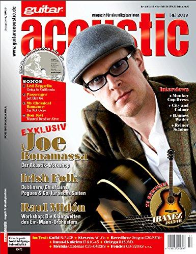 guitar acoustic 4 2013 mit CD - Joe Bonamassa - Interviews - Akustikgitarre Workshops - Akustikgitarre Playalongs - Akustikgitarre Test und Technik - Akustikgitarre Noten
