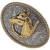 F Fityle Fibbia Cintura Cowboy Americano Occidentale Esecuzione Cavallo Per Regalo Uomini