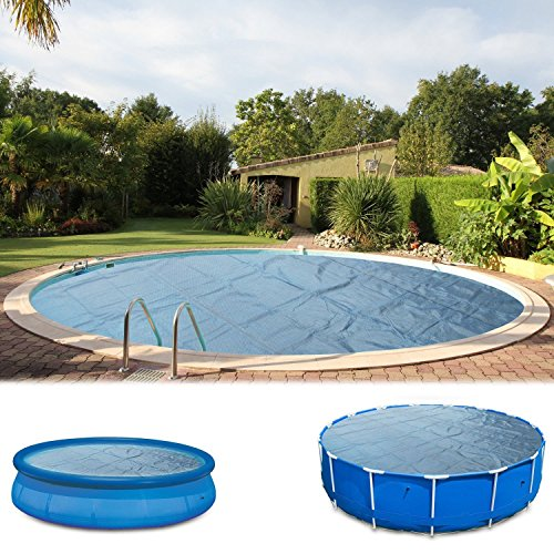 Miganeo® Premium-Solarfolie 244 305 366 400 457 488 500 549 600 Solarplane schwarz/blau Poolheizung für Pool (600 cm, schwarz-blau)
