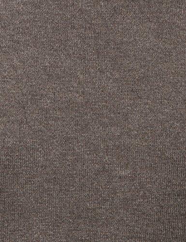 Lower East Herren Pullover mit Rundhalsausschnitt, in verschiedenen Farben Braun (Braun Melange)