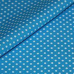 Puntos Tela de algodón Metro Azul Blanco Lunares Dots Decoración algodón Funda de Tela plástico Lunares Precio por Metro
