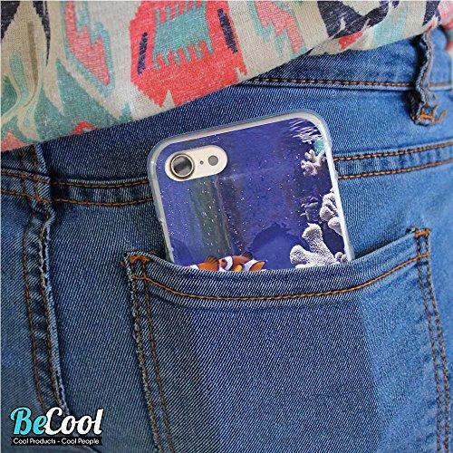 BeCool®- Coque Etui Housse en GEL Flex Silicone TPU Iphone 8, Carcasse TPU fabriquée avec la meilleure Silicone, protège et s'adapte a la perfection a ton Smartphone et avec notre design exclusif. Cha L1333