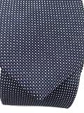 Blacksmith Navy Blue Polka Dots Formal Blue Tie for Men
