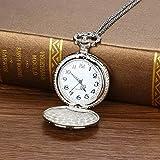 Gaddrt vintage orologio da tasca catena retro più grande orologio da tasca collana per nonno Dad, D