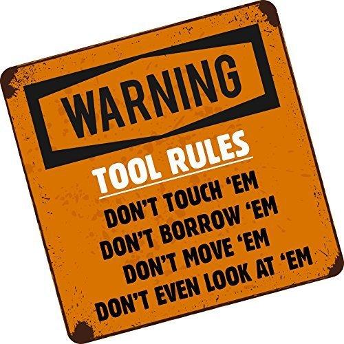 Werkzeug Regeln nicht! Lustiger Werkzeugbox Werkzeugkasten Kasten Vinyl Autosticker Aufkleber Vinyl 100x100mm ca. (Lustig-laptop-aufkleber)