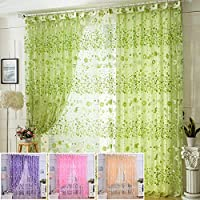 Bluelover 100x200 cm fiore Tulle stampa finestra