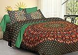ganesham-indian Hippie Mandala Queen Psychedelic Stickset, Decken, Schlafzimmer Quilt Werfen, Bettunterlagen, indischen Mandala Bettwäsche Wende-King Baumwolle Bettbezug Set