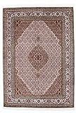 Nain Trading Indo Täbriz 240x170 Orientteppich Teppich Grau/Rosa Handgeknüpft Indien