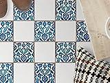 creatisto Bodenfliesen-Dekor | Klebe-Sticker Aufkleber Folie Küchenfliesen Bad-Folie Badgestaltung | 10x10 cm Muster Ornament Hamam-Vibes - 9 Stück