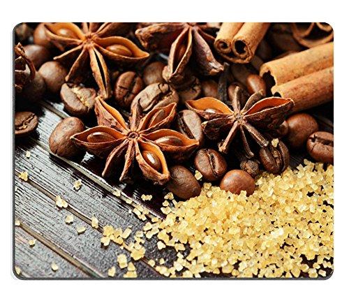 luxlady Gaming Mousepad Bild-ID: 26149252duftende Gewürze Kaffee und Reed Zucker auf einen hölzernen Hintergrund - Duftende Zucker