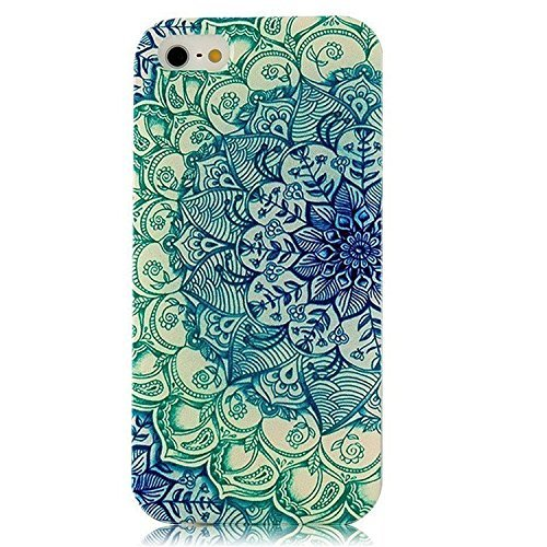 iPhone SE Custodia,iPhone 5S Custodia, iPhone 5 Custodia, AAABest TPU Gel Silicone Protettivo Skin Custodia Protettiva Shell Case Cover per iPhone SE/5S/5 -lotus