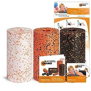 "blackroll Orange (Das Original) Selbstmassagerolle, 3er Set ""Standard, Med und Pro"", (inkl. Übungs-DVD, -Booklet & Übungsposter)"