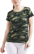 Delhitraderss Women's Military Army Print Regular Fit Top(Size-L)