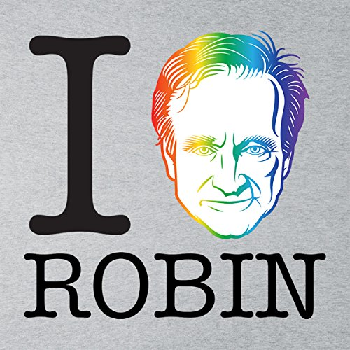 I Heart Robin Williams Rainbow Women's T-Shirt Heather Grey