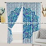 #7: CraftJaipur 2 Pcs Cotton Window Curtain Long Door - 40 × 80 Inches