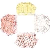 LOSORN ZPY Lot de 3 sous-vêtements pour bébé fille avec volants
