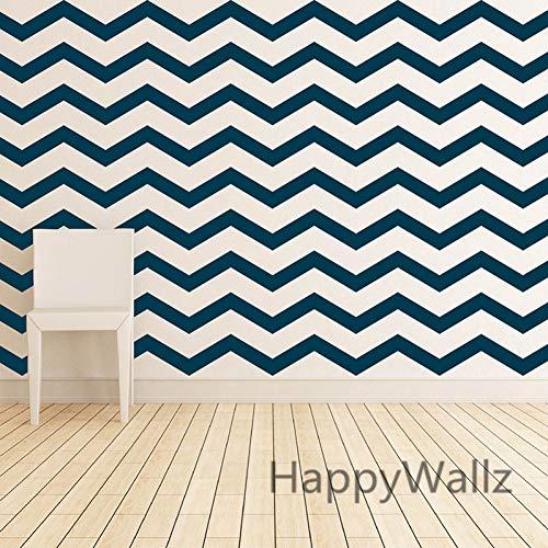 Chevron Wandaufkleber DIY Chevron Stripes Wandtattoo East Wall Art Abnehmbare Dekore Moderne Wandtapete P65 ()