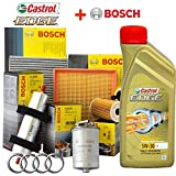 Kit tagliando olio CASTROL EDGE 5W30 5LT + 4 FILTRI BOSCH (1457429192, 1457070007 OPPURE 1457070008, 1987429404, 1987432397)