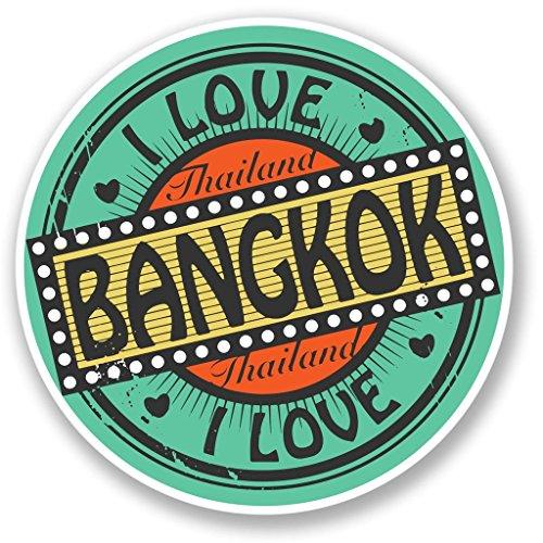 Preisvergleich Produktbild 2 x Bangkok Thailand Vinyl Aufkleber Aufkleber Laptop Reise Gepäck Auto Ipad Schild Fun 4281 - 10cm / 100mm Wide