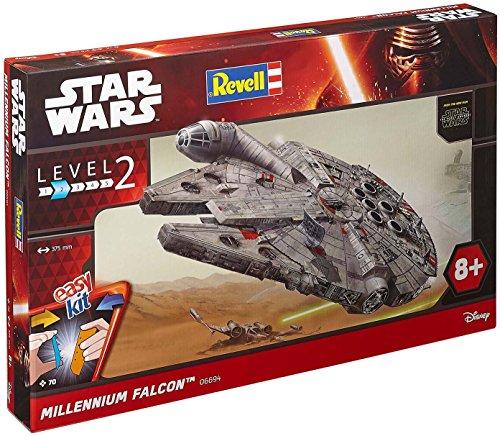 Revell Modellbausatz Star Wars Millennium Falcon im Maßstab 1:72, Level 2, originalgetreue Nachbildung mit vielen Details, Steckmechanismus, mit vorbemalten und vordekorierten Teilen, 06694