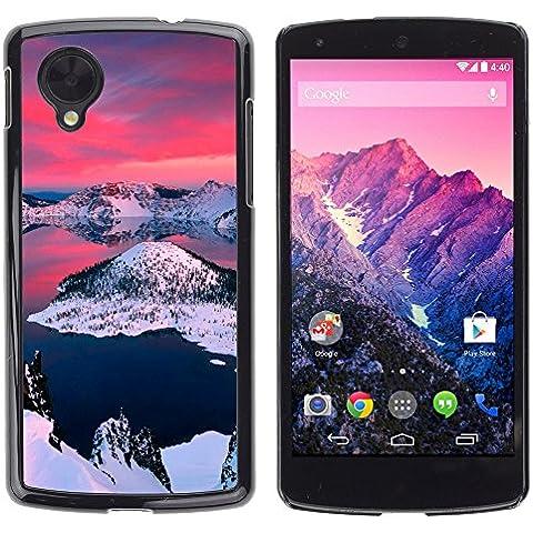 Alaska Aurora Borealis OYAYO LG Nexus 5 D820 D821 //Dise?os frescos para todos los gustos! Top muesca protección para su teléfono inteligente!