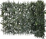 Haie de Bambou sur support rigide bambou naturel Brise Vue Haie artificielle PVC Vert 300 x 12 x 100 cm