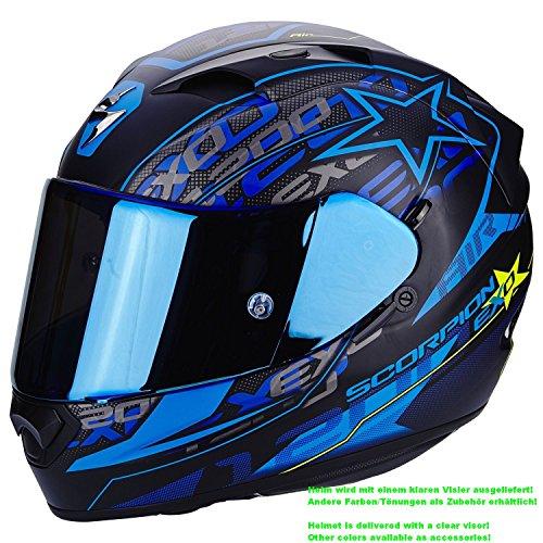 SCORPION EXO-1200 AIR Solis Casque pour moto Couleur Noir mat/Bleu Taille S