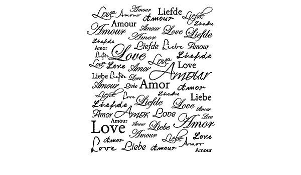 Artemio Tipo G Love Testo Timbro in Legno
