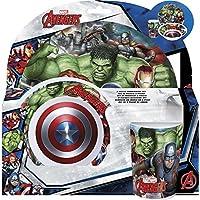 Los Vengadores (Avengers) - Set desayuno melamina sin orla 3 piezas (Stor 87790)